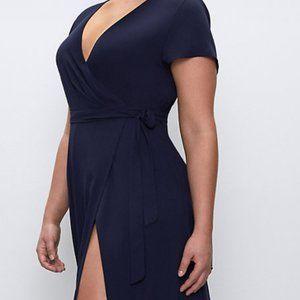 Aritzia Babaton Slit Wrap Dress